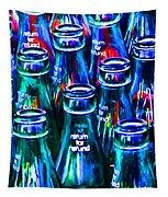 Coca-cola Coke Bottles - Return For Refund - Painterly - Blue Tapestry