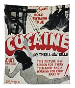 Cocaine Movie Poster, 1940s Tapestry