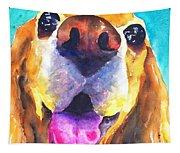 Cocker Spaniel Dog Smile Tapestry