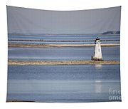 Cockspur Island Lighthouse With Jetty Tapestry
