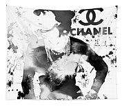Coco Chanel Grunge Tapestry