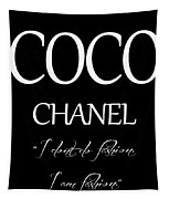 Coco Chanel Quote Tapestry