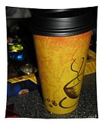 Coffee Cup Series. Yellow And Orange. Tapestry