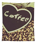 Coffee Heart Tapestry