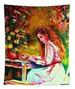 Coffee In The Garden Tapestry