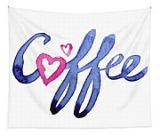 Coffee Lover Typography Tapestry