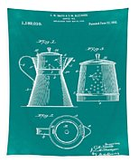 Coffee Pot Patent 1916 Green Tapestry