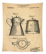 Coffee Pot Patent 1916 Sepia Tapestry