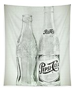 Coke Or Pepsi Black And White Tapestry