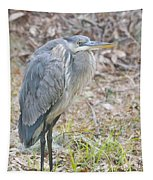 Cold Blue Heron Tapestry