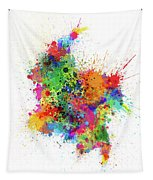 Colombia Paint Splashes Map Tapestry