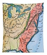 Colonial America Map Tapestry