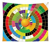 Color Wheel Tapestry