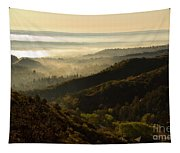 Colorado And Manitou Springs Valley In Fog Tapestry