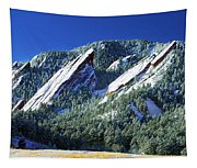 All Five Colorado Flatirons Tapestry
