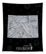 Colorado Map Music Notes 2 Tapestry