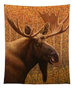 Colorado Moose Tapestry by James W Johnson