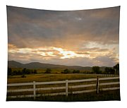 Colorado Rocky Mountain Country Sunset Tapestry