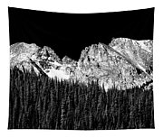 Colorado Rocky Mountains Indian Peaks Fine Art Bw Print Tapestry