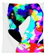Colored Flamingo Tapestry
