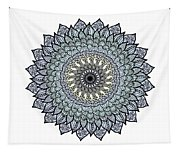 Colored Flower Zentangle Tapestry