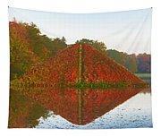 Colored Lake Pyramid Tapestry