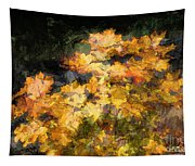 Colored Maple Leaves Tapestry