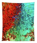 Colorful Abstract Art - Rejoice - Sharon Cummings Tapestry