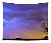 Colorful C2c Lightning Country Landscape Tapestry