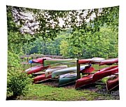 Colorful Canoes At Hungry Mother State Park Tapestry