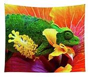 Colorful Chameleon Tapestry