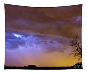 Colorful Cloud To Cloud Lightning Stormy Sky Tapestry