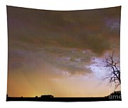 Colorful Colorado Cloud To Cloud Lightning Striking Tapestry