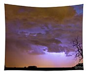 Colorful Colorado Cloud To Cloud Lightning Thunderstorm 27 Tapestry