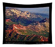 Colorful Colorado Rocky Mountains Planet Art Poster  Tapestry