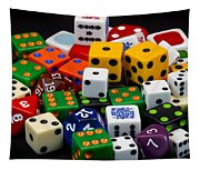 Colorful Dice 2 Tapestry