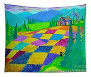Colorful Fields Tapestry