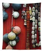 Colorful Fishing Floats Tapestry