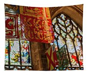Colorful Flags And Stained Glasss Windows Tapestry