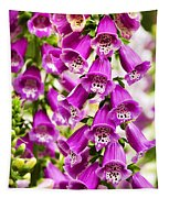 Colorful Foxglove Flowers Tapestry