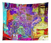 Colorful Glass Bottles Abstract Tapestry