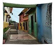 Colorful Guayaquil Alley Tapestry