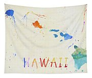 Colorful Hawaii Map Tapestry