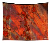 Colorful Metal Abstract With Border Tapestry