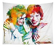 Colorful Mick And Keith Tapestry