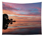 Colorful Morning Mirror - Spectacular Sky Reflections At Dawn Tapestry