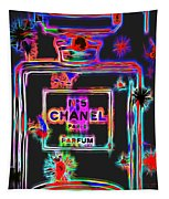 Colorful Neon Chanel Five  Tapestry
