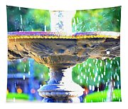 Colorful New Orleans Fountain Tapestry