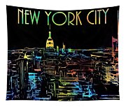 Colorful New York City Skyline Tapestry