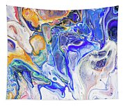 Colorful Night Dreams 5. Abstract Fluid Acrylic Painting Tapestry